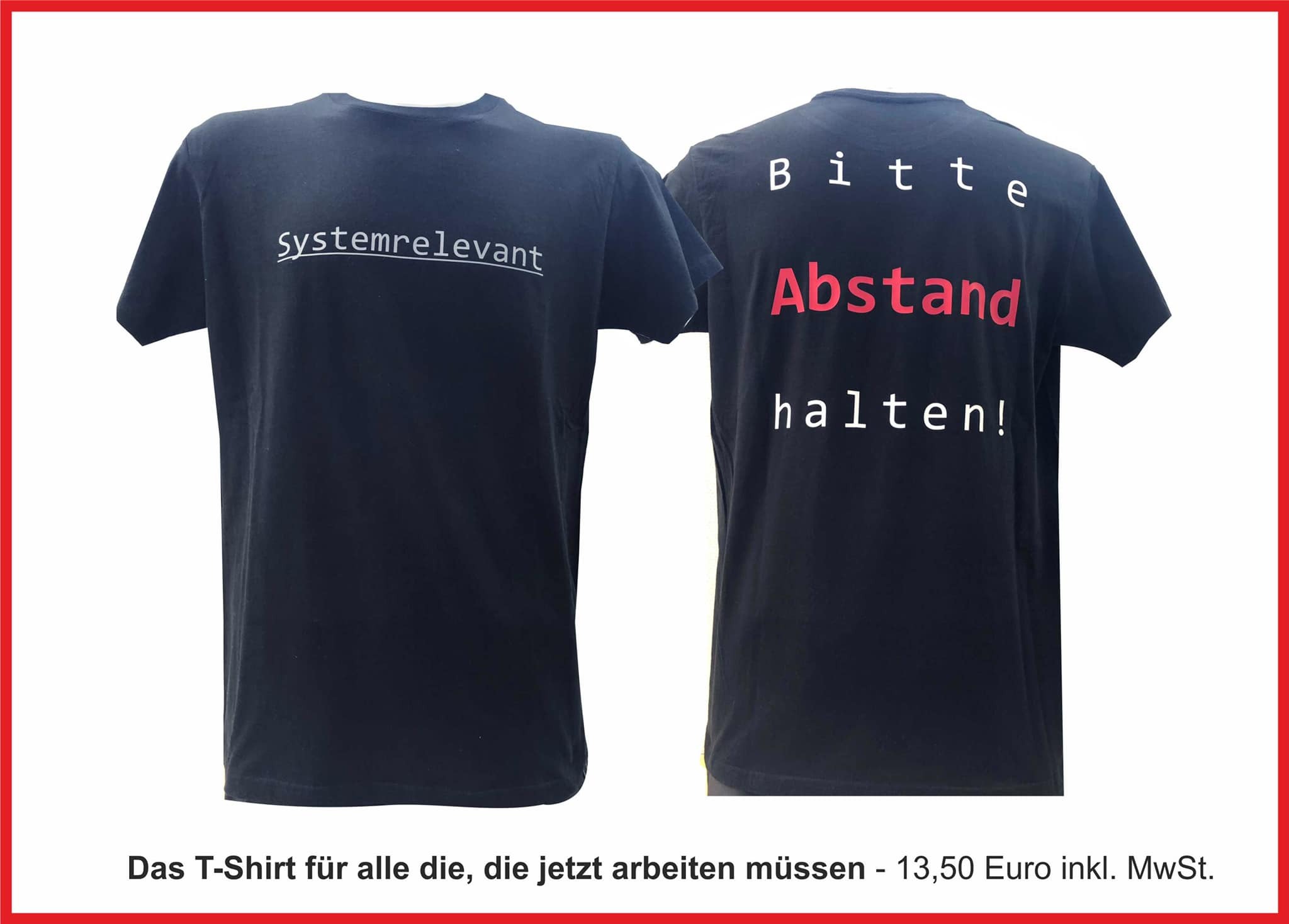 T-Shirt Systemrelevant