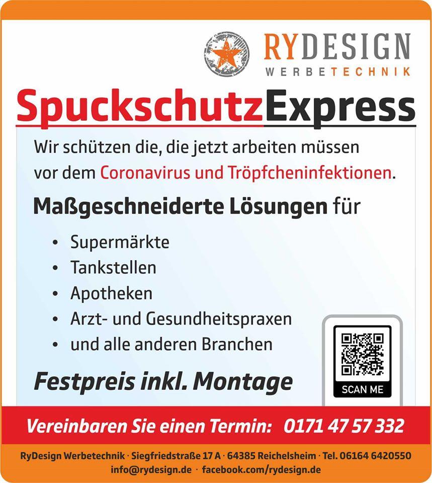 Anzeige SpuckschutzExpress